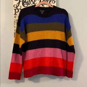 POOF New York Acrylic Striped Sweater Medium